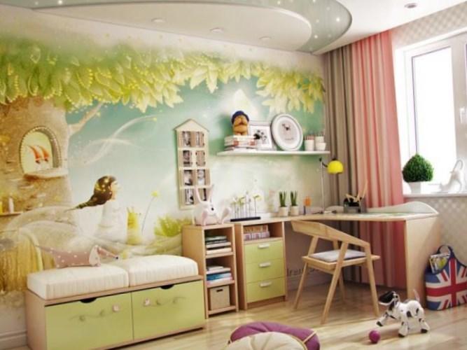 Design interessante di una stanza per bambini for Decorare una stanza per bambini