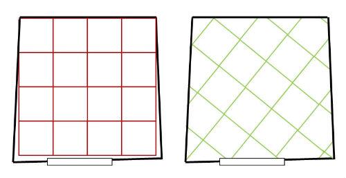 Posa di piastrelle in diagonale - Posa piastrelle rettangolari ...